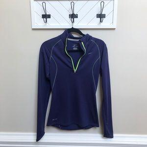 Nike | Dry Fit Blue Quarter Zip Sweatshirt Sz XS